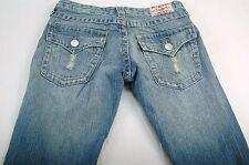 """True Religion Women's 28 (28W,32L,7""""Rise) Woodstock Boot Cut Denim Jeans #T134"""