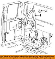 FORD OEM 92-93 F-350 Rear Seat Belt-Buckle Retractor Left FOTZ15611B09D