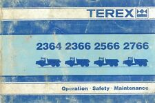 Terex Dumptruck 2364 2366 2566 2766 Operators Manual