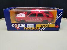 SAAB 9000 TURBO HATCHBACK RED 'FLY VIRGIN' 1:43 CORGI DIE-CAST MODEL