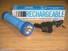 Bright Star #801 Rechargeable Flashlight w/ 2 Nickel Cadmium Batteries  NOS