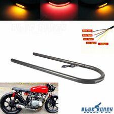 "7/8"" Rear Seat Hoop Loop Frame w/LED Taillight Turn Signal Lamp For Honda Suzuki"