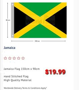 Jamaica Flag 900mm×1500mm LARGE BRAND NEW FREE SHIPPING AUS WIDE GOOD QUALITY