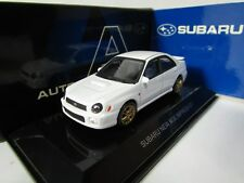 AUTOART 1/64 SUBARU IMPREZA WRX STI 2001 WHITE RHD n KYOSHO,WITH TRACK NUMBER