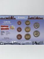 Latvia / Lettland  Kursmünzen Satz 2014. 8 Münzen  3,88€  Unc - St