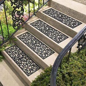 Parkland® Wrought Iron Effect Rubber Stair Treads Non Slip Anti Trip