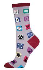 Socksmith Phone Apps Casual Crew Sock (6-10)