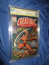 CREATURES ON THE LOOSE #10 CBCS 6.0 SS Signed Bernie Wrightson CGC/1st King Kull