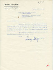 LORENZO ALESSANDRI SURFANTA LETTERA AUTOGRAFA A PIERO FORTUNATO 1957 OCCULTISMO