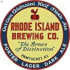 "RHODE ISLAND BREWING CO. 11.75"" ROUND METAL SIGN"