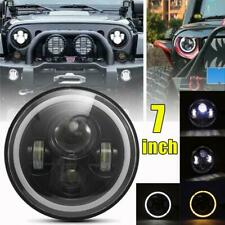 DOT 7inch Round LED Headlight /w Halo Angle Eyes For Jeep Wrangler JK LJ TJ CJ