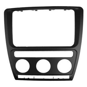 Radio Fascia for Skoda Octavia With Auto A/C 2 Din DVD Player Stereo Panel Trim