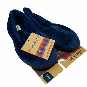 New Dearfoams Womans Memory Foam Slippers Size 9-10 L Comfort Blue