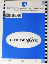 James Bond 007 GOLDENEYE original Werberatschlag