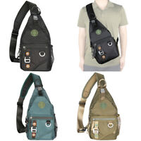 Nylon Large Sling Bag Crossbody Bag Small Backpack Chest Bag Shoulder Bag Men