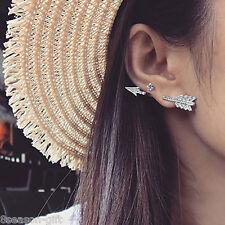 GIFT Girl Fashion Earrings Arrow Shaped Silver Punk Arrow Stud Earring For Women