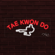 """Brand New """"Tae Kwon Do"""" w/Logo 32x13X1 Inch Led Flex Indoor Sign 30133"""