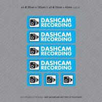 7 x Dash Cam Recording Stickers CCTV In Car Video Camera Decal Sticker - SKU3108