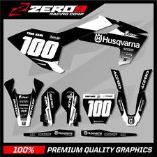 Custom MX Graphics Kit: HUSQVARNA Motocross Graphics TC85 BLOCK BLK/WHI