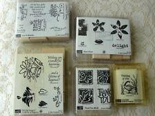 lot of new 5 Stampin Up stamps new in packages (24 stamps)