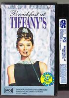 Breakfast at Tiffanys, AUDREY HEPBURN -Vintage VHS Video Tape