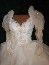 Ballroom dancing Waltz Ivory and peach Ball gown size 6-ish