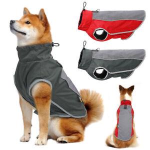 Reflective Winter Dog Pet Clothes Warm Fleece Waterproof Dog Jacket Coat M-3XL
