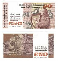 IRELAND EIRE UNC 50 Pounds / Punt (1982) P-74a Banknote Paper Money
