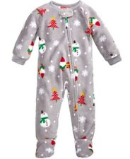 Family PJS Baby Boys or Girls 1-Pc Happy Gnomes Footed Pajama 12 months NWOT