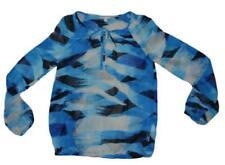 ESPRIT schicke Bluse blau-creme in Gr.36/38