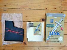 NES THE ADVENTURE OF LINK ZELDA GAME BOXED AUS SELLER PAL NINTENDO ENTERTAINMENT