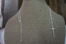 """Premier Design Necklace (new) SILVER CROSS MY HEART 15-19"""" ADJ (20806)"""