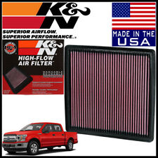K&N Replacement Air Filter fits 2018-2019 Ford F-150 2.7L 3.0L 3.3L 3.5L 5.0L