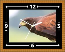 Eagle Bird Of Prey 2 Wall Clock Present Christmas Birthday (Can Be Personalised)