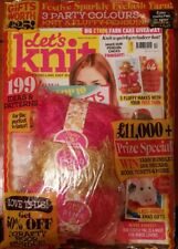 Let's Knit Magazine - Issue 126  - December 2017 + Free Yarn for fluffy Penguin