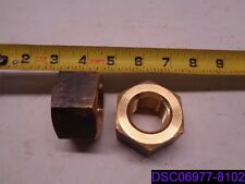 "Qty = 2: Brass Hex Nut 1-1/8"" Thread"