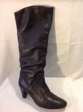 La Redoute Creation Black Knee High Leather Boots Size 39