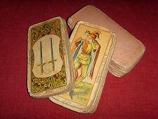 Ancien tarot Etteilla cachet 1890 oracle jeu de cartes ésotérique collection