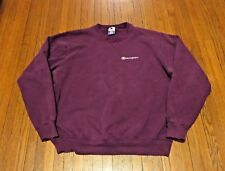 Men's VTG 80's 90's Champion Script Logo Purple Sweatshirt sz XL Tall (M)