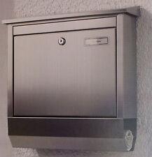 edelstahl briefkasten mit zeitungsfach g nstig kaufen ebay. Black Bedroom Furniture Sets. Home Design Ideas