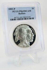 2001-P PCGS PR69DCAM Buffalo $1 Modern Commemorative Silver Proof