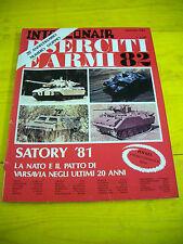 RARA RIVISTA MILITARE ESERCITI E ARMI INTERCONAIR RARE 1981 NATO PATTO VARSAVIA