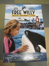 Free Willy~Escape From Pirate's Cove  27 x 40 Movie Poster