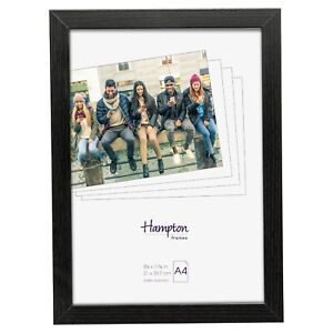 Kent Black A4 Frame With Plexi Glass Or Glass For Certificate, Photo Display