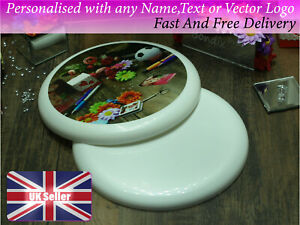 Personalised frisbee 23cm with any photo logo text name