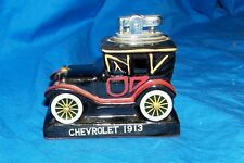 Old '64 Amico Japan Chevrolet 1913 Glass Cigarette Lighter Vintage Ceramic Table