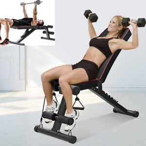 Folding Weight Bench Flat To Incline Chest Press Weight Lifting Bench Training