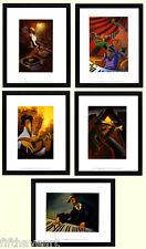 Justin Bua Musical Art Poster Set  5  Custom Framed Prints A+ Quality