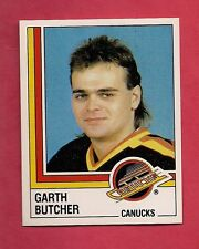 RARE 1987 CANUCKS # 343 GARTH BUTCHER  ROOKIE   STICKER CARD