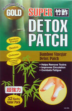 32-pack New GOLD Foot Super Chikusaku Bamboo Fresh Chi Vinegar Detox Toxin Patch